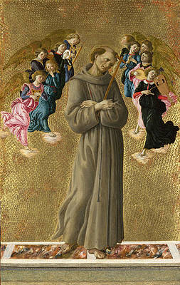 Saint Francis of Assisi with Angels Print by Sandro Botticelli