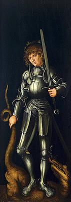 Saint George Print by Lucas Cranach the Elder