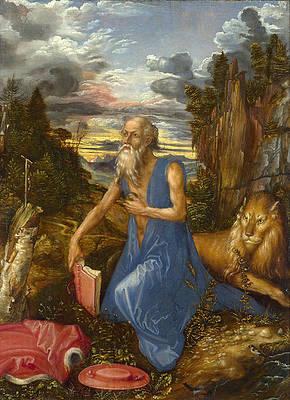 Saint Jerome Print by Albrecht Duerer