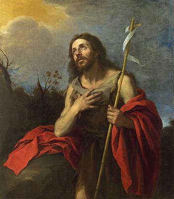 Saint John the Baptist in the Wilderness Print by Bartolome Esteban Murillo
