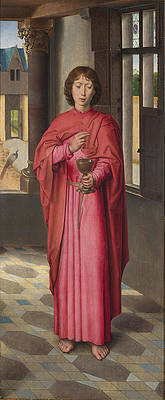 Saint John the Evangelist Print by Hans Memling