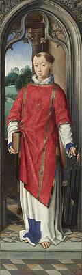 Saint Lawrence Print by Hans Memling