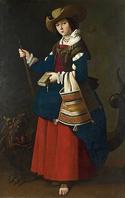 Saint Margaret of Antioch Print by Francisco de Zurbaran