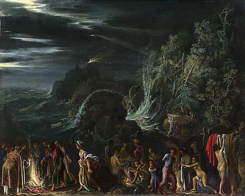 Saint Paul on Malta Print by Adam Elsheimer