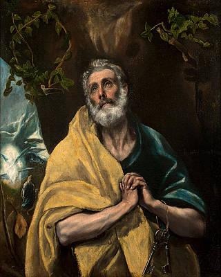 Saint Peter in Tears Print by El Greco