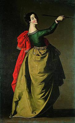 Saint Ursula Print by Francisco de Zurbaran