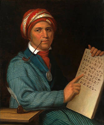 Sequoyah Print by Henry Inman