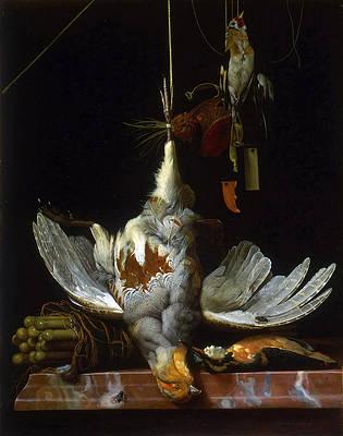 Featured Art - Still Life with Birds by Hendrik de Fromantiou