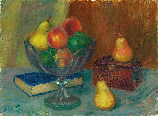 Still Life with Japan Box Print by William Glackens