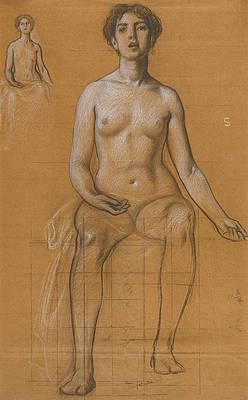 Studies for the Singing Priestess in Song Print by Herbert James Draper