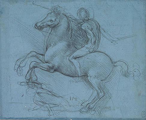 Study for an equestrian monument Print by Leonardo da Vinci