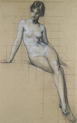 Study for the Kelpie Print by Herbert James Draper