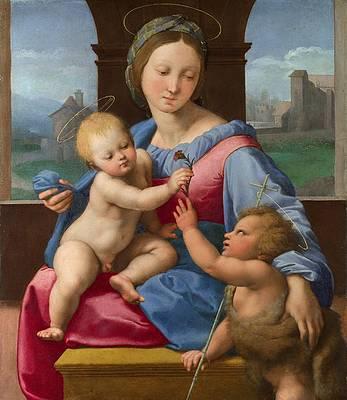 The Garvagh Madonna Print by Raphael