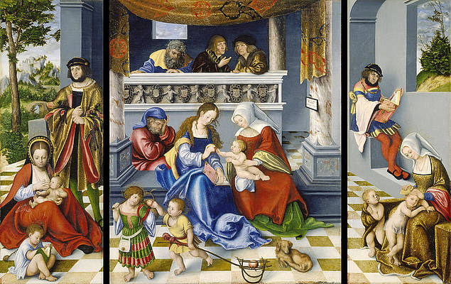 The Altarpiece of the Holy Kinship Print by Lucas Cranach the Elder