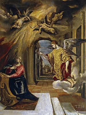 The Annunciation Print by El Greco