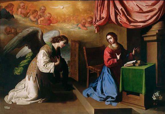 The Annunciation Print by Francisco de Zurbaran