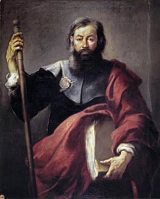 The Apostle Saint James Print by Bartolome Esteban Murillo