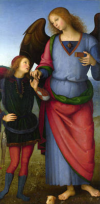 The Archangel Raphael with Tobias Print by Pietro Perugino