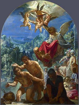 The Baptism of Christ Print by Adam Elsheimer