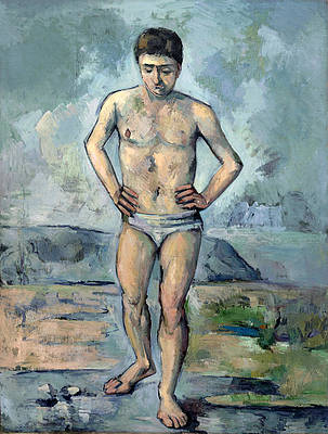 The Bather Print by Paul Cezanne
