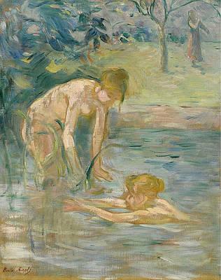 The Bathers Print by Berthe Morisot