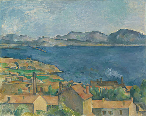 The Bay of Marseilles Seen from L Estaque Print by Paul Cezanne