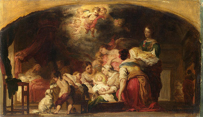 The Birth of the Virgin Print by After Bartolome Esteban Murillo