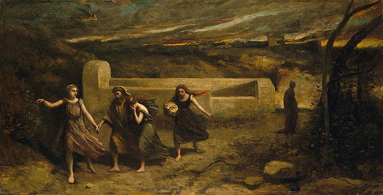 The Burning of Sodom Print by Jean-Baptiste-Camille Corot