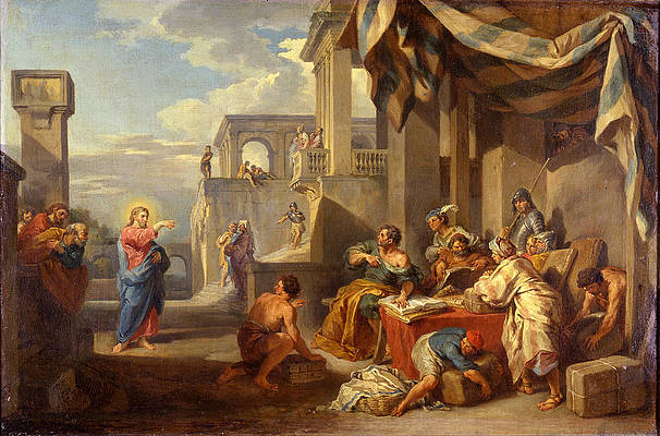 Featured Art - The Calling of Saint Matthew by Giovanni Paolo Panini