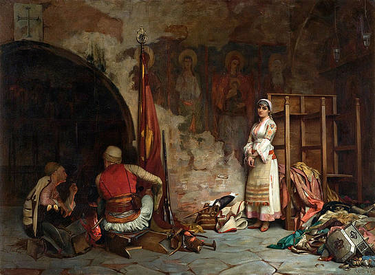 The Captive. Turkish Plunder Print by Theodoros Rallis