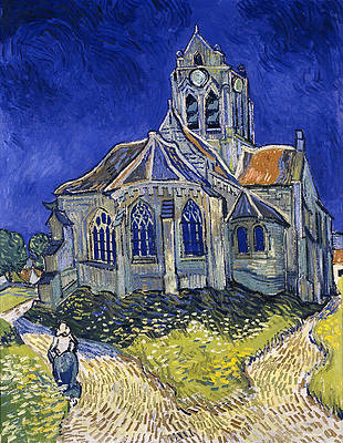 The Church in Auvers-sur-Oise. View from the Cheve Print by Vincent van Gogh