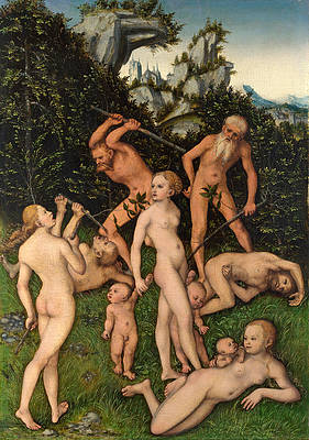 The Close of the Silver Age Print by Lucas Cranach the Elder