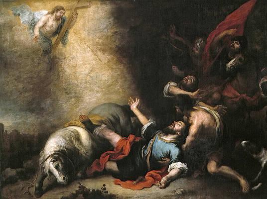 The Conversion of Saint Paul Print by Bartolome Esteban Murillo