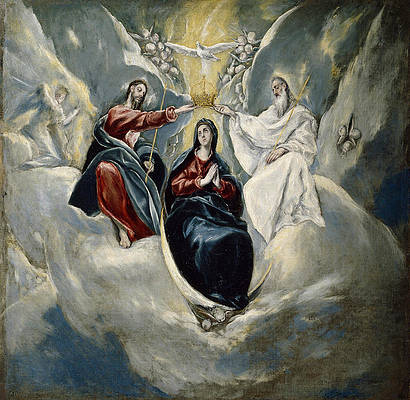 The Coronation of the Virgin Print by El Greco