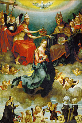 The Coronation of the Virgin Mary Print by Hans von Kulmbach