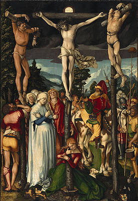 The Crucifixion of Christ Print by Hans Baldung Grien