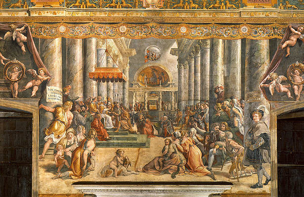 The Donation of Rome. Print by Raphael