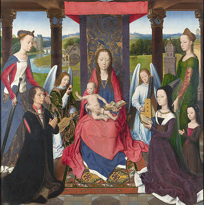 The Donne Triptych Print by Hans Memling