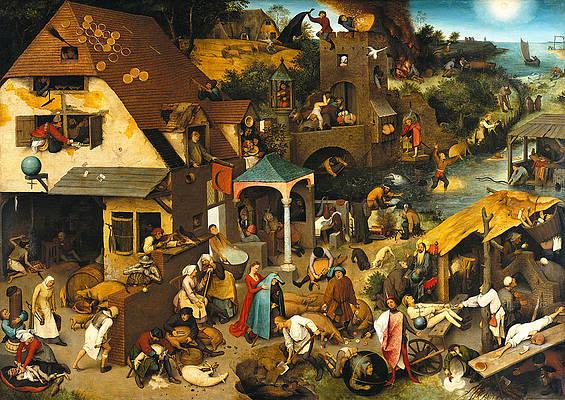The Dutch Proverbs Print by Pieter Bruegel the Elder