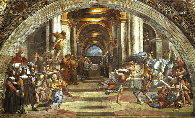 The Expulsion of Heliodorus from the Temple Print by Raphael