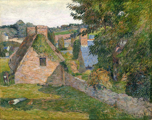 The Field of Derout-Lollichon Print by Paul Gauguin