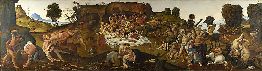 The Fight between the Lapiths and the Centaurs Print by Piero di Cosimo