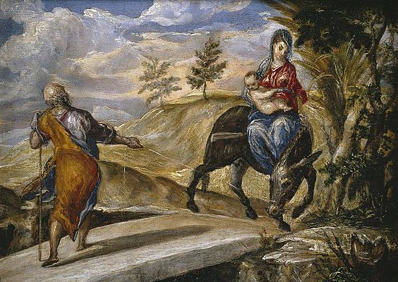 The Flight into Egypt Print by El Greco