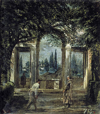 The Gardens of the Villa Medici in Rome Print by Diego Velazquez
