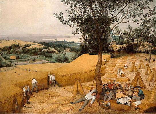 Featured Art - The Harvesters by Pieter Bruegel the Elder