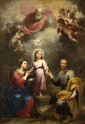 The Heavenly and Earthly Trinities Print by Bartolome Esteban Murillo
