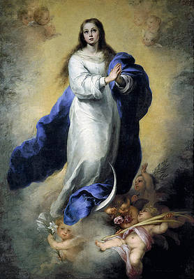 The Immaculate Conception of the Escorial Print by Bartolome Esteban Murillo