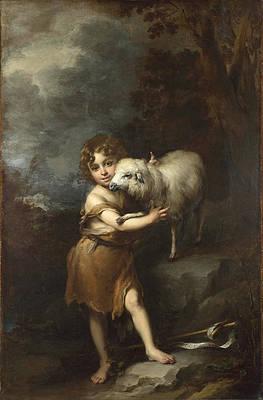The Infant Saint John with the Lamb Print by Bartolome Esteban Murillo