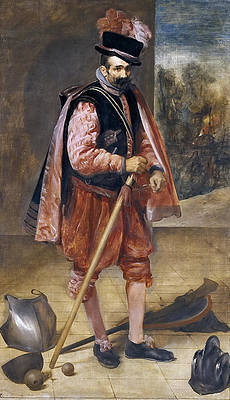 The Jester Named Don John of Austria Print by Diego Velazquez