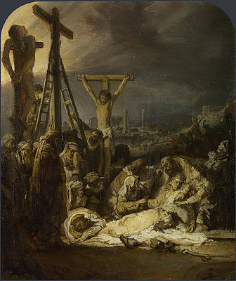 The Lamentation over the Dead Christ Print by Rembrandt